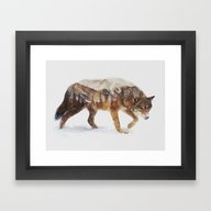 Framed Art Print featuring Arctic Wolf by Andreas Lie