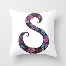 Floral S Throw Pillow