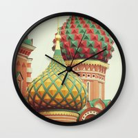 Russian Onion Domes Wall Clock