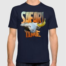 SAFARI TIME  Mens Fitted Tee Navy SMALL