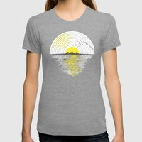 Morning Sounds Womens Fitted Tee Tri-Grey SMALL