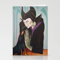 Sorceress With Raven Stationery Cards