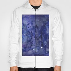 Night Sky Galaxy Stars | Watercolor Space Texture Hoody
