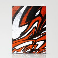 White N' Red Stationery Cards