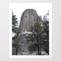 Devil's Tower National Park Art Print