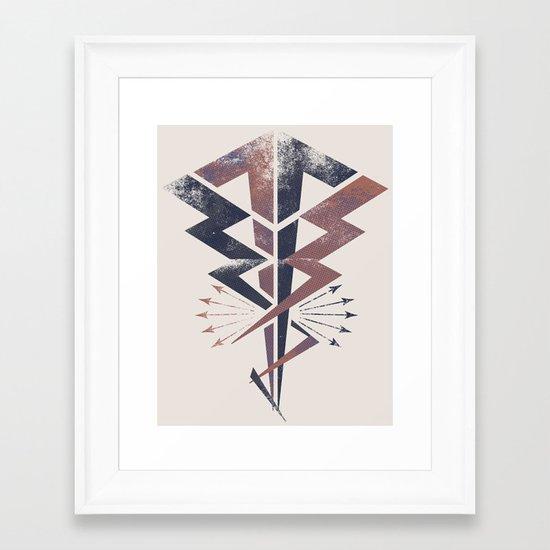 Lightning Bolt Framed Art Print