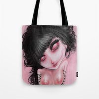 Pink Bleak Pain Tote Bag
