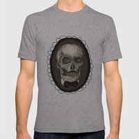Dapper Skull  Mens Fitted Tee Athletic Grey SMALL