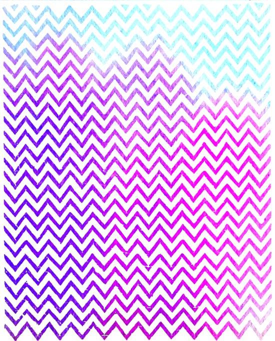 Pink Mist - Chevron Art Print