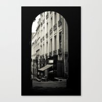 Parisian Doorway Canvas Print