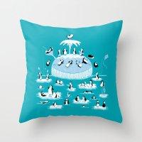 Beach Whale Throw Pillow