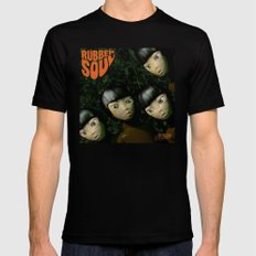Rubber Soul Black Mens Fitted Tee SMALL