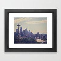 Seattle Skyline Framed Art Print