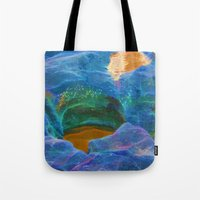 Abstract beautiful rock pools in the late afternoon Tote Bag