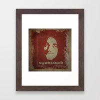 Swanstuck! Framed Art Print