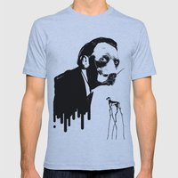 SalvaDog Dalí Mens Fitted Tee Athletic Blue SMALL
