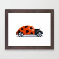 Lady Beetle Framed Art Print