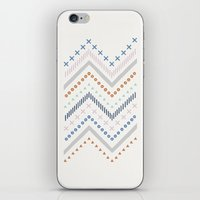 Mixed Zig Zag - in Cobalt iPhone & iPod Skin