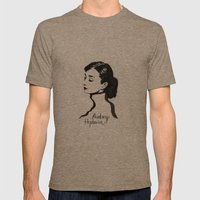 Audrey Hepburn Mens Fitted Tee Tri-Coffee SMALL