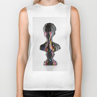 The Girl With Stars In Her Eyes (White Background) Biker Tank