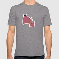 Angry Dawg Mens Fitted Tee Tri-Grey SMALL