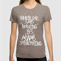 Some advice. Womens Fitted Tee Tri-Coffee SMALL