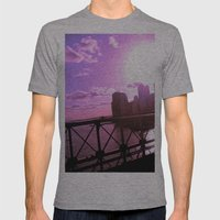 As the Sun Sets Mens Fitted Tee Athletic Grey SMALL