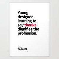 Young Designer — Advice #7 Art Print