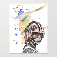 Luke Skywalker From Star Wars in Rebel Flight Helmet  Canvas Print