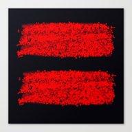 Traces Rouges Canvas Print