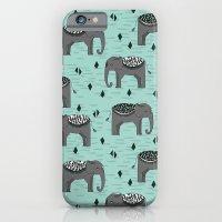 Elephant Parade by Andrea Lauren iPhone 6 Slim Case