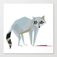 Canvas Print featuring Wally Raccoon by Darrah Gooden