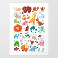 Animalphabet Art Print
