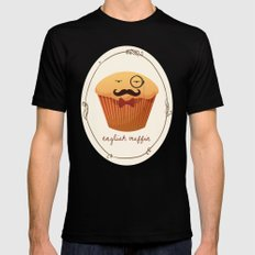 English Muffin Black SMALL Mens Fitted Tee