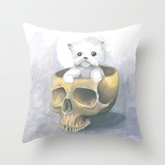 i ated all the brains Throw Pillow