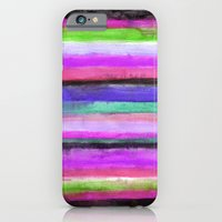 iPhone & iPod Case featuring Watercolour Stripe by Art, Love & Joy Designs