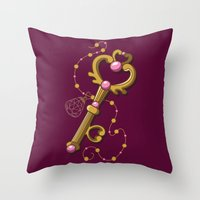 Chibiusa Time Key - Sailor Moon Throw Pillow