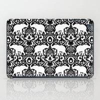 Elephant Damask Black and White iPad Case
