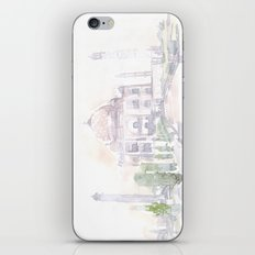 Watercolor landscape illustration_India - Taj Mahal iPhone & iPod Skin