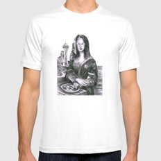 Eggilisa SMALL White Mens Fitted Tee