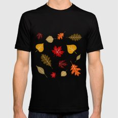When The Leaves Fall Mens Fitted Tee Black SMALL