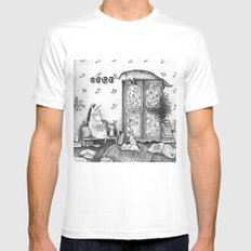 Unicorn house White Mens Fitted Tee SMALL