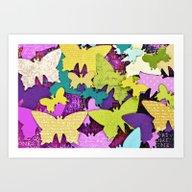 Art Print featuring Fancy Butterflies by LebensART