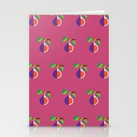 Fruit: Fig Stationery Cards