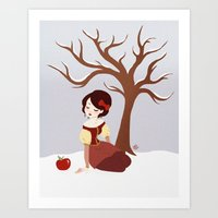 Skin White As Snow Art Print