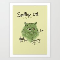 Smelly Cat Art Print