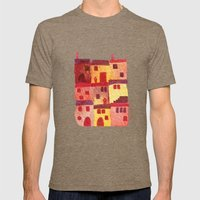 Tuscan Holiday Mens Fitted Tee Tri-Coffee SMALL