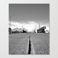 Canvas Print featuring Empty street by Vorona Photography