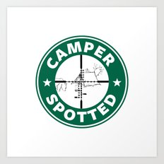 Camper Spotted Art Print