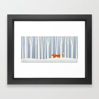 Fox In The Snow Framed Art Print